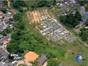Chacina na Estrada das Barreiras, em Salvador (Foto: Reprodução/TV Bahia)