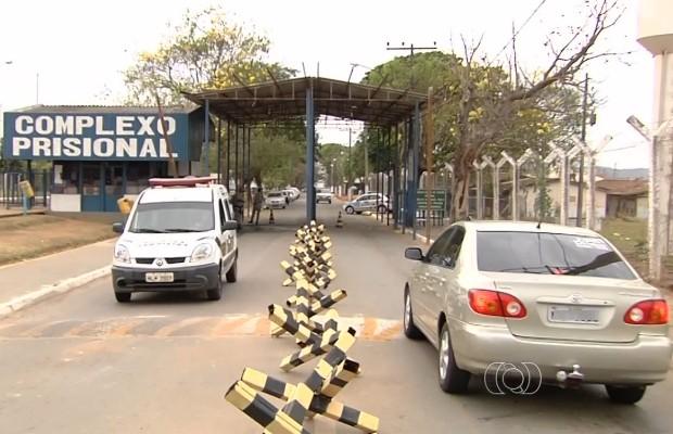 Complexo prisional de Aparecida de Goiânia, Goiás (Foto: Reprodução/TV Anhanguera)