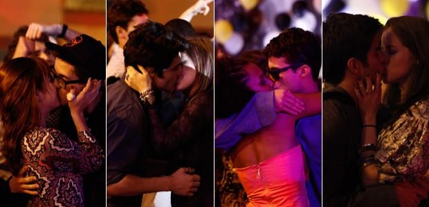 Essa turma beijou muuuuito na boca! Confira quem ficou com quem! (Malhação/TV Globo)