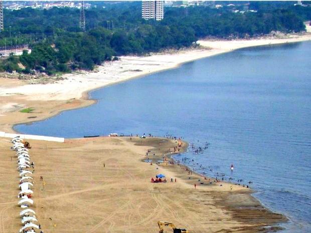 Praia da Ponta Negra, em Manaus (Foto: Divulgação/CPRM)
