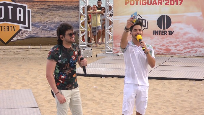 Pedrinho Pegação no Rota Inter TV de Verão (Foto: Sivonei Pereira)