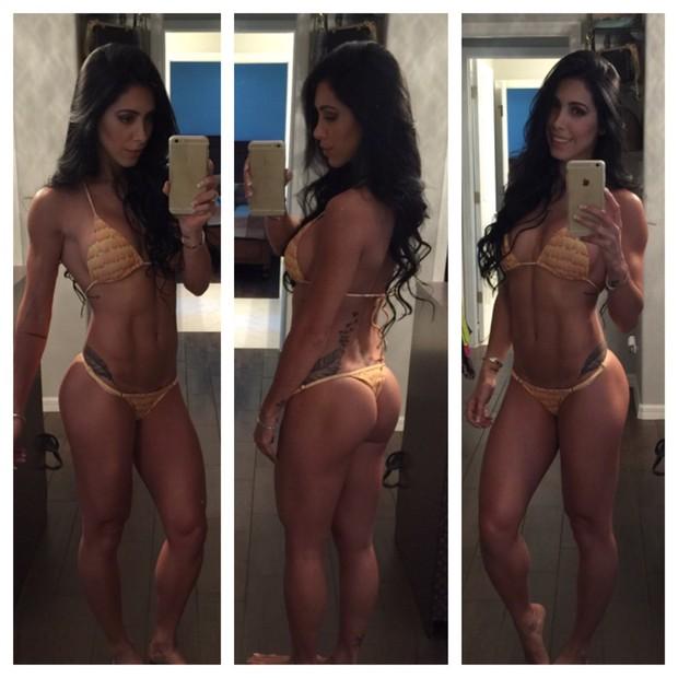 Bella Falconi exibe o novo corpo, sem dietas radicais (Foto: Divulgação)