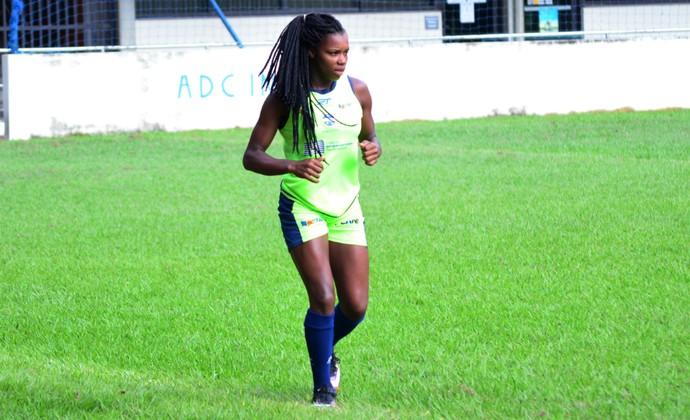 Ludmila atacante São José futebol feminino (Foto: Danilo Sardinha/GloboEsporte.com)