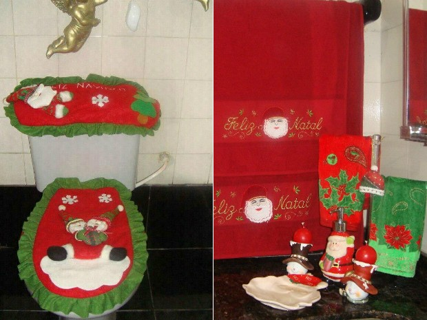 Decoração natalina (Foto: Aparecida Pessôa/Arquivo Pessoal)