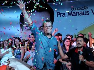 Henrique Oliveira, candidato à prefeitura de Manaus pelo SD (Foto: Rickardo Marques/G1 AM)