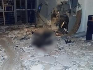 Suspeito morreu no momento da explosão em Viamão (Foto: Polícia Civil/Divulgação)