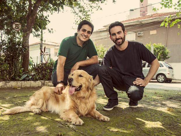 Eduardo Baer e Fernando Gadotti são sócios do site DogHero (Foto: Arquivo Pessoal)