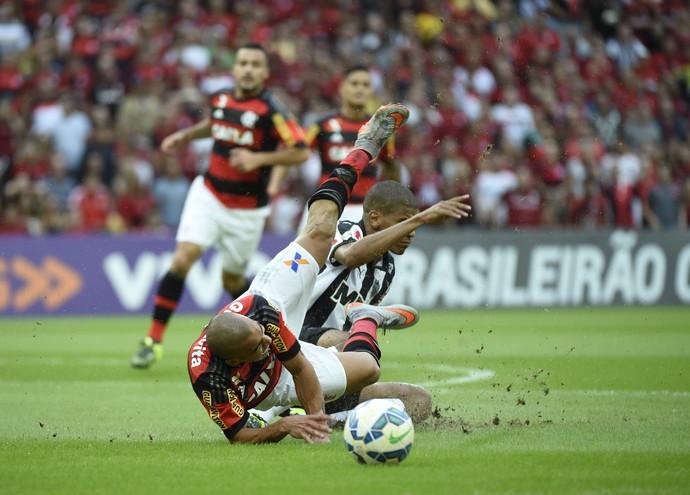 Emerson Leandro Silva Flamengo x Atlético-MG (Foto: André Durão)