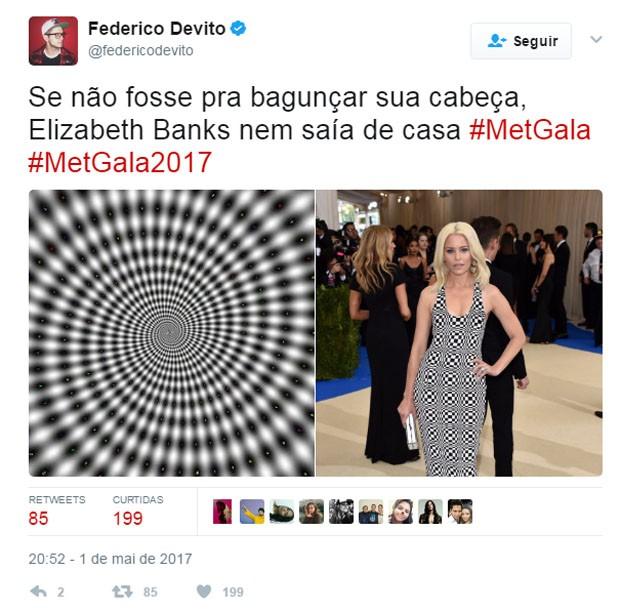 Look do MET Gala 2017 gera meme na web (Foto: Reprodução)