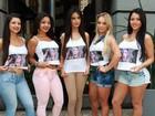 """Misses Bumbum fazem campanha para Andressa: """"Força Urach"""""""
