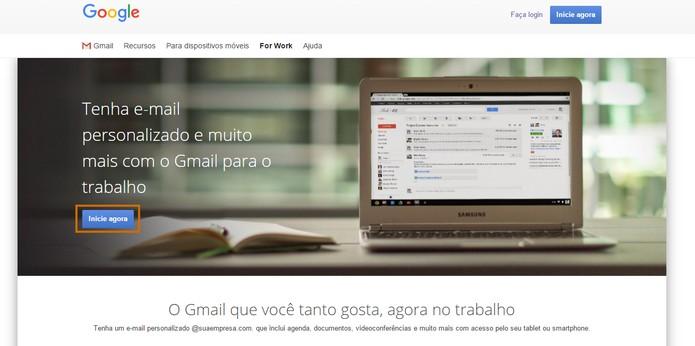 Inicie o Gmail for Work (Foto: Reprodução/Barbara Mannara)
