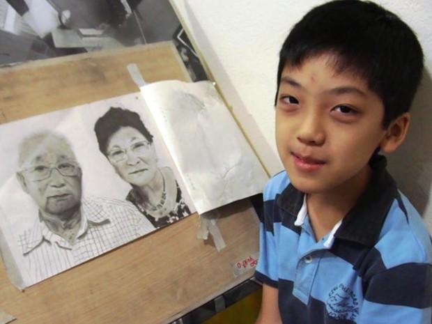 Garoto desenhou avós a partir de fotografia: 'Ficaram orgulhosos', diz (Foto: Arquivo Pessoal/ Henrik Ribeiro)