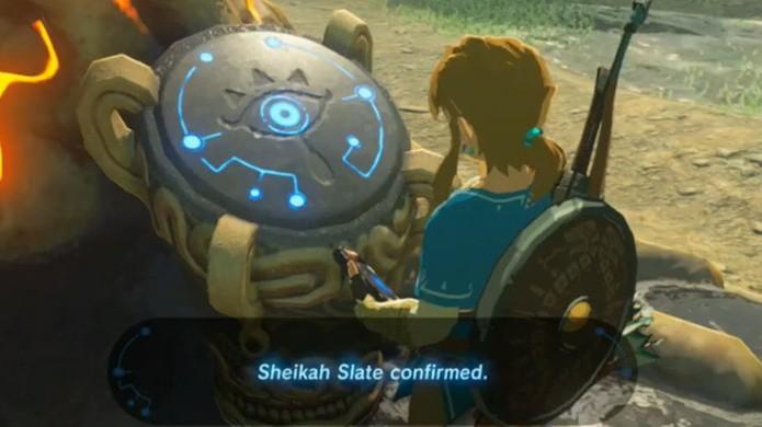 The Legend of Zelda: Breath of the Wild traz uma ligação com os antigos Sheikahs através do Sheikah Slate (Foto: Reprodução/In USA News)