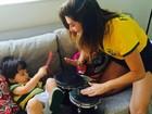 Haja coração! Fê Paes Leme entra no clima do jogo do Brasil