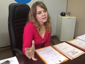 Delegada Ana Elisa Gomes, em Goiânia (Foto: Gabriela Lima/G1)