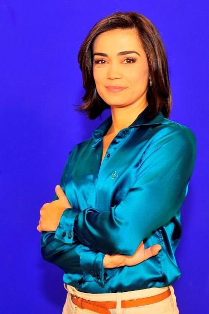 Fabiana Nascimento apresenta o telejornal ao lado de Fabian Londero (Foto: Alvarélio Kurossu/Divulgação)