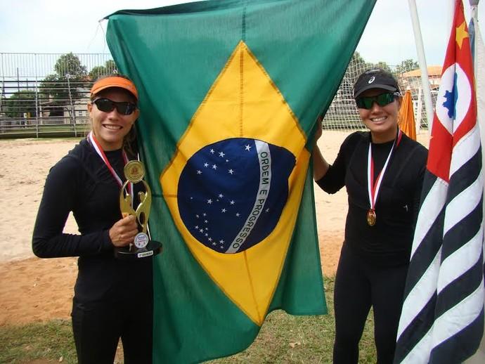 Camile e Karine são ouro nos Jogos Regionais (Foto: Semepp / Divulgação)
