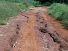 Estradas precárias em bairro rural prejudicam escoamento de grãos