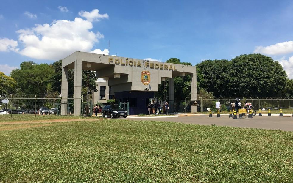 Fachada da Superintendência da Polícia Federal, em Brasília (Foto: Gabriel Luiz/G1)