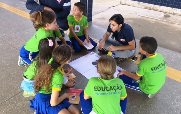 Projeto 'Samuzinho' é iniciado em escola de Boa Vista (Foto: Roraima TV)