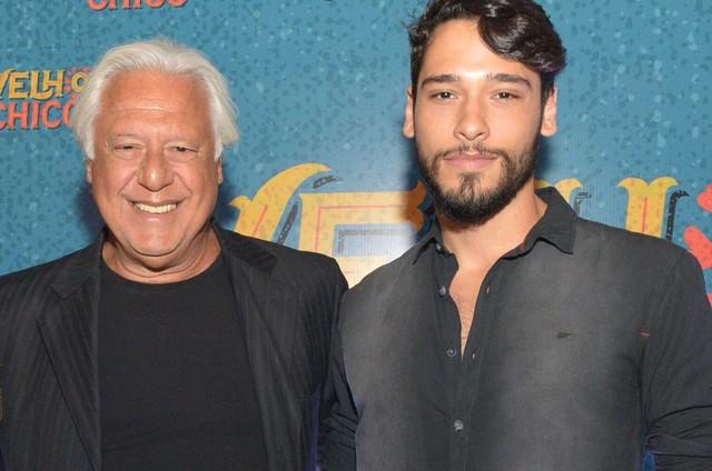 Bruno e Antonio Fagundes (Foto: João Miguel Júnior/ TV Globo)