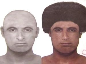 Retrato falado de autor do crime foi divulgado pela Polícia Civil (Foto: Divulgação)