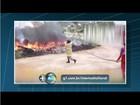 Incêndio destrói quatro trailers na via de acesso ao Itaipuaçu em Maricá, RJ