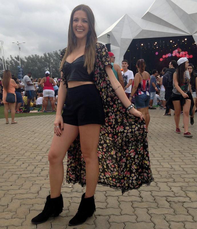 Alina Heckert curte o estilo 'Boho' (Foto: Carolina Morgado / Gshow)