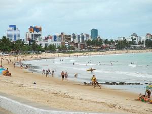 Praia de Manaíra, em João Pessoa (Foto: Rizemberg Felipe/Jornal da Paraíba)