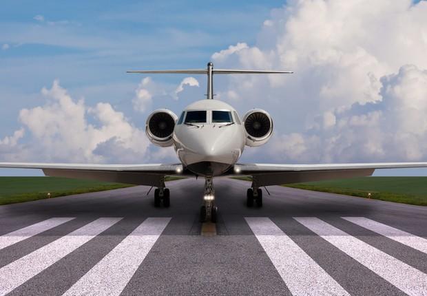 Jato da companhia Gulfstream com componentes da Honeywell Aerospace (Foto: Divulgação)
