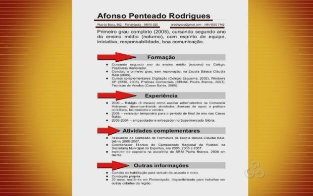 As informações no currículo devem ser colocadas em forma de bloco, pois facilita a leitura (Foto: Bom Dia Amazônia)