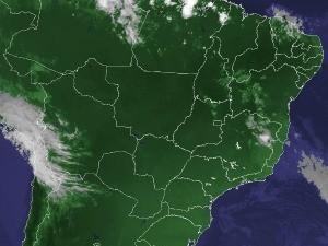 Imagem de satélite capturada na tarde desta quarta-feira (28) (Foto: Reprodução/Cptec/Inpe)