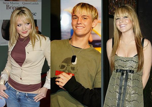 Hilary Duff, Aaron Carter, Lindsay Lohan (Foto: Getty Images)