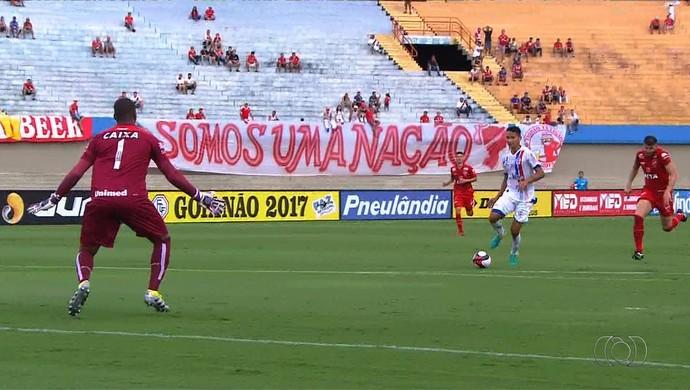 Vila Nova x Itumbiara - Campeonato Goiano 2017 (Foto: Reprodução / TV Anhanguera)