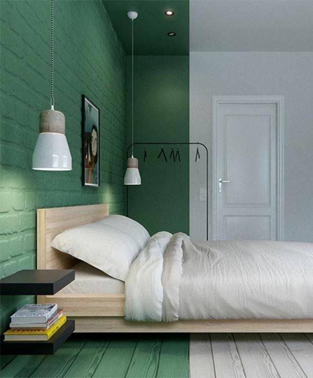 Quarto verde e branco (Foto: INT2 Architecture/Divulgação)