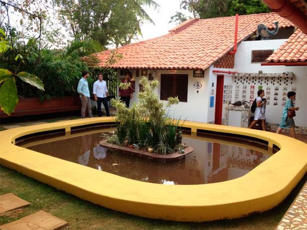 'Lago dos Sapos' do museu da casa de Jorge Amado (Foto: Alan Tiago/G1)