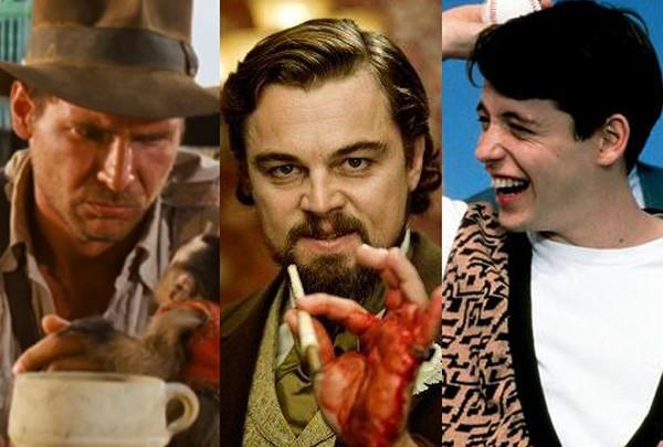 Os Caçadores da Arca Perdida (1981), Django Livre (2012), Curtindo a Vida Adoidado (1986) (Foto: Divulgação)