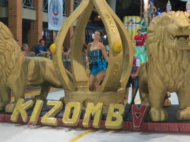 Kizomba levou a segunda colocação com o carnaval de Itá (Foto: PG Comunicação/Divulgação)