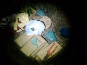 GCM encontou parte da droga enterrada em um tambor (Foto: Divulgação / GCM)