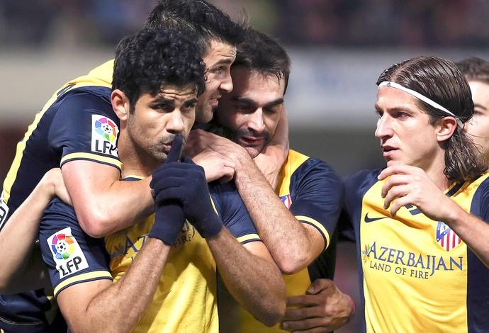 Diego Costa comemoração jogo Atlético de Madrid contra Granada (Foto: Reuters)