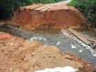 Trecho da BR-307 cede e deixa cidade isolada no interior do Amazonas