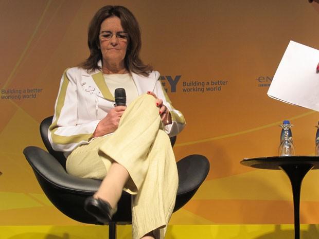 A presidente da Petrobras, Graça Foster, fala em evento nesta quinta-feira (Foto: Fabiola Glenia/G1)