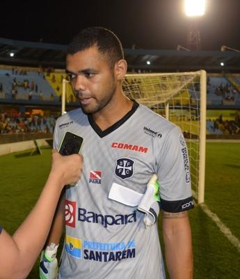 Goleiro do São Francisco Paulo Rafael  (Foto: Dominique Cavaleiro/ GloboEsporte.com)