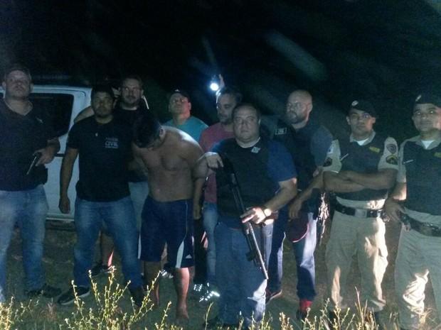 Operação conjunta conseguiu encontrar o agente penitenciário e efetuar a prisão (Foto: Divulgação / Polícia Civil)