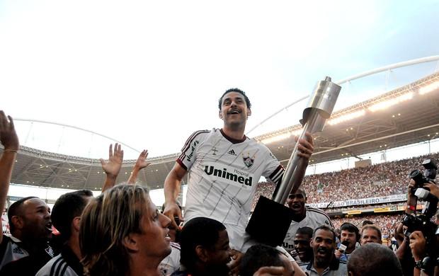 Fred fluminense comemoração campeão brasileiro 2012 (Foto: Bia Figueiredo / Photocamera)