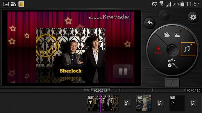 Para personalizar a trilha sonora selecione o botão de ícone musical (Foto: Reprodução/Barbara Mannara)
