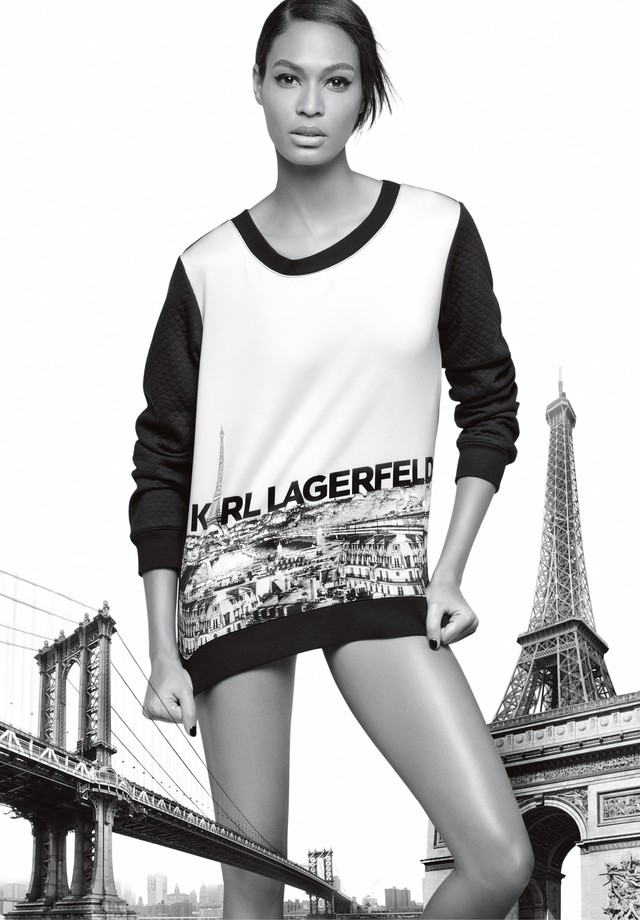 Joan Smalls para Karl Lagerfeld (Foto: Divulgação)