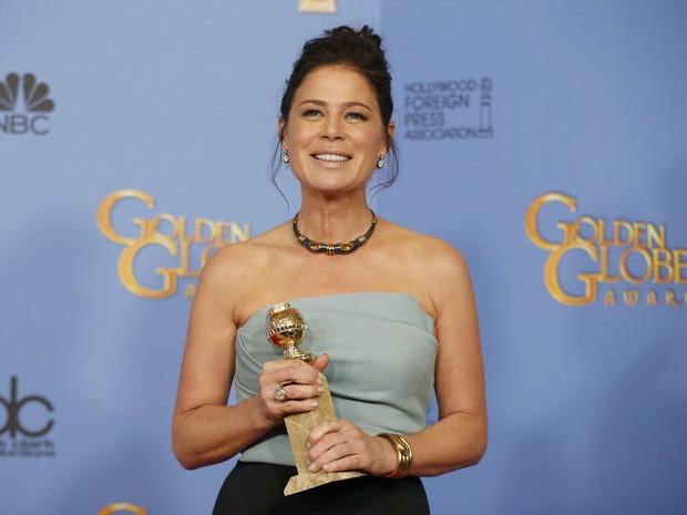 Maura Tierny vence o Globo de Ouro de melhor atriz de série dramática (Foto: REUTERS/Lucy Nicholson)