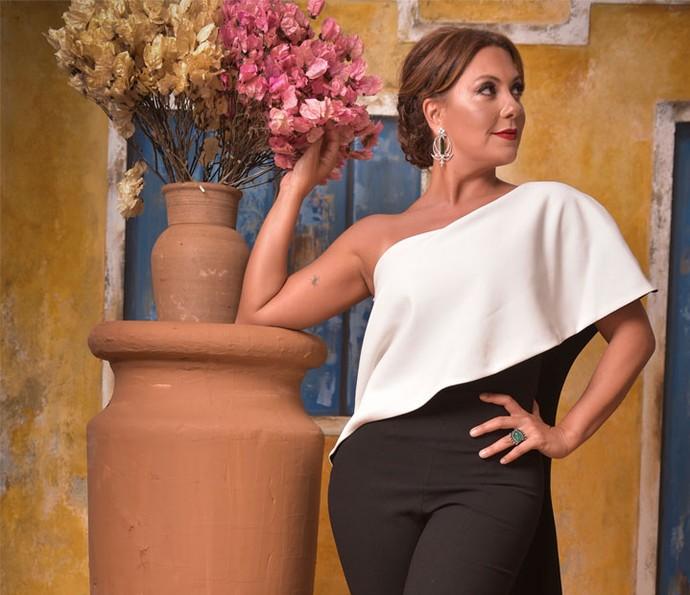 Fabiula Nascimento posa em festa de lançamento de 'Velho Chico' (Foto: Caiuá Franco/ Globo)