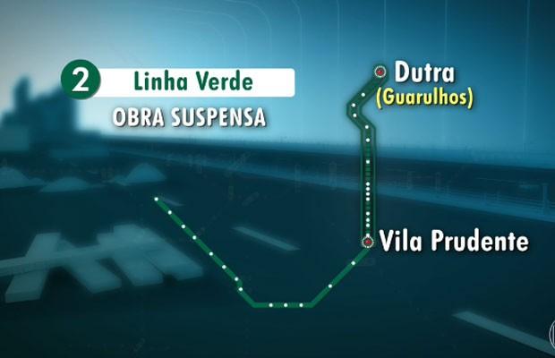 Linha 2-Verde do Metrô terá novas estações (Foto: TV Globo/Reprodução)